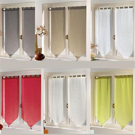 voilage fenetre cuisine paire de rideaux fenêtre largeur 45 cm hauteur 160 cm