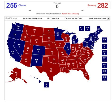 2012 Presidential Election Electoral College Map