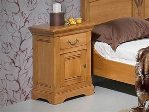 Table De Chevet Wengé : chevet en ch ne massif silver 1 porte enbois 1 tiroir ~ Teatrodelosmanantiales.com Idées de Décoration