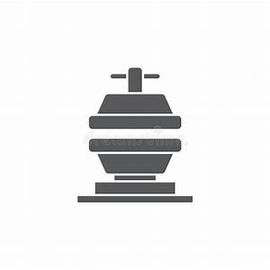 Manual Press Machine Vector Icon Symbol Tools Isolated On