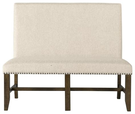 fabric bench with back francis fabric back bench rustic upholstered benches