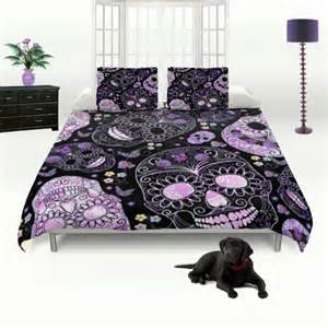 skull bedding duvet comforter cover set sugar skulls