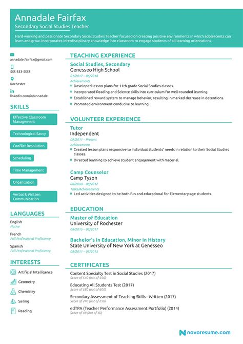 academic lecturer cv template  resume examples