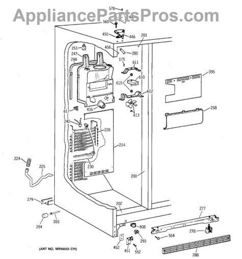 ge wrx defrost heater assembly appliancepartsproscom