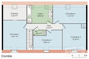 Plan Maison 4 Chambres Etage EVTOD