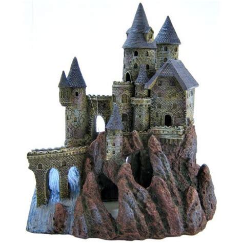 rustic castle aquarium decoration