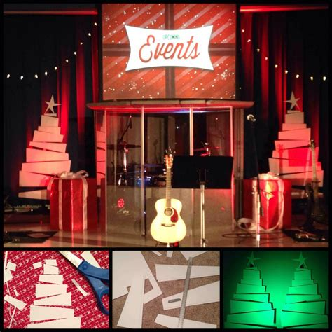 coroplast christmas trees church stage ideas pinterest