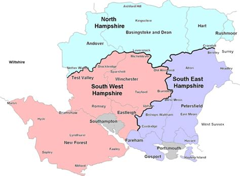 hampshire map  information british services uk guides