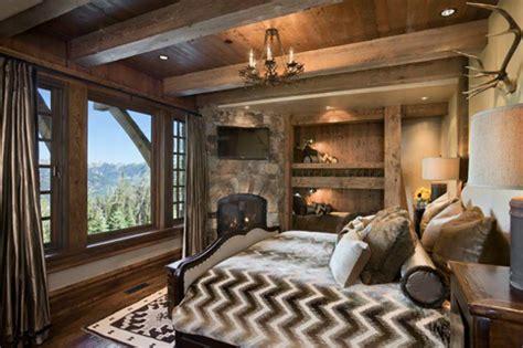 chambre chalet luxe l esprit montagne reflété dans une chambre rustique