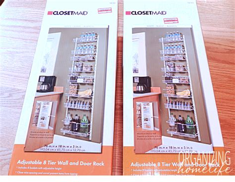 Closetmaid Door Rack - how to maximize space in a pantry organize your kitchen