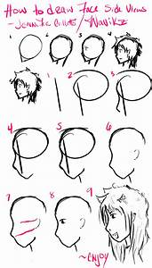How To Draw Face Side Views By Wavikz On Deviantart