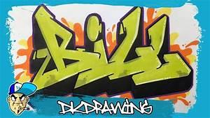 How to draw graffiti names - Bill #14 - YouTube