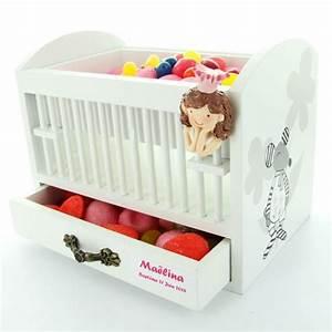 bonbonniere dragees lit bebe With affiche chambre bébé avec box fleurs pas cher