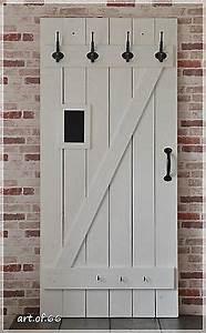 Garderobe Alte Tür : garderobe aus alten brettern alte t r shabby ~ Michelbontemps.com Haus und Dekorationen