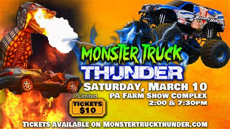 tickets for monster truck show monster truck thunder harrisburg pa tickets in harrisburg