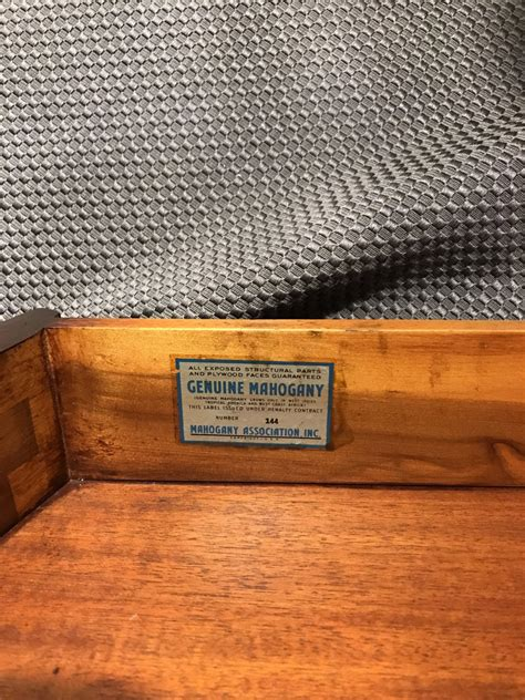 mahogany association  table   excellent