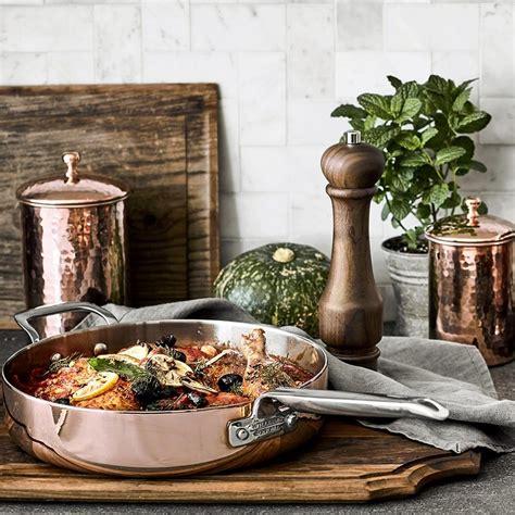 williams sonoma professional copper  piece cookware set williams sonoma au