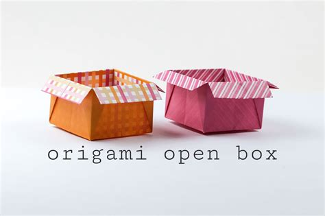 origami open box  flaps tutorial
