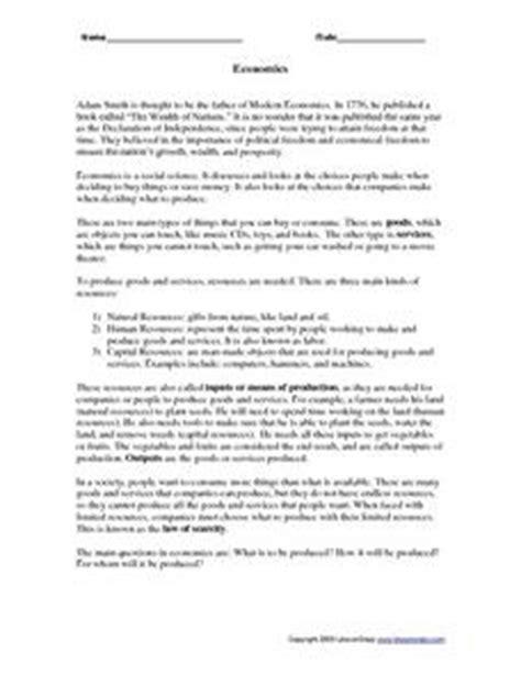 introduction to economics worksheet worksheet economics worksheets hunterhq free printables