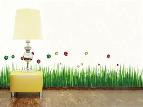 Home Decor 3d Wall Stickers : Free Shipping Green Grass Diy 3d Wall Sticker Removable