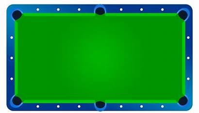 Table Clipart Pool Clip Billiards Empty Pools