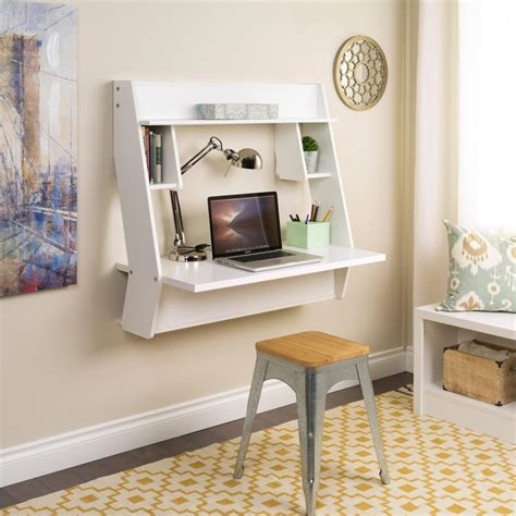 wall mounted desks  save room  small spaces