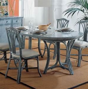 Table Salle A Manger Ronde : table ronde 120 cm avec rallonge brin d 39 ouest ~ Teatrodelosmanantiales.com Idées de Décoration