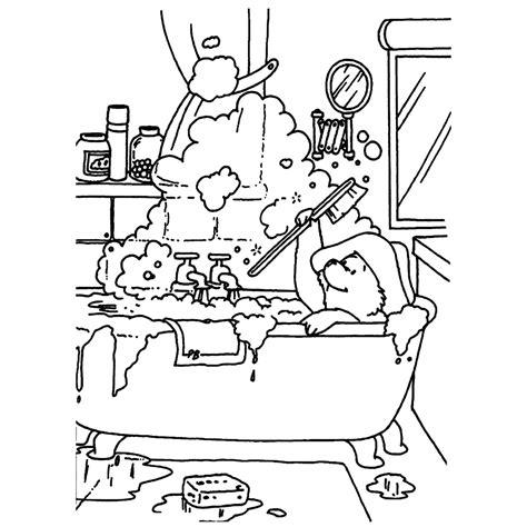 Kleurplaat Paddington by Leuk Voor Paddington In Bad
