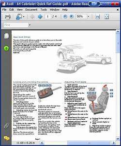 Audi A4 Cabriolet Quick Guide Order  U0026 Download
