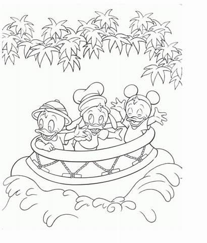 Coloring Disney Pages Parks Park Theme Tuned
