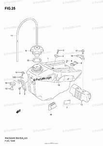 Suzuki Motorcycle 2005 Oem Parts Diagram For Fuel Tank