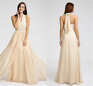 2016 long cheap custom made bridesmaid dresses champagne With plus size wedding party dresses