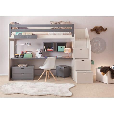 lit et bureau chambre complete pour enfants ados avec lit mezzanine