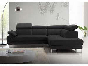 canape d39angle en cuir de vachette 5 coloris colisee With canapé d angle gris noir