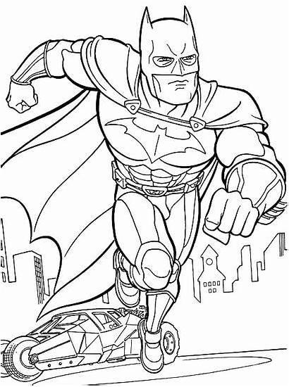 Coloring Batman Pages Imaginext Gotham Printable Knight