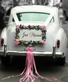 25 best ideas about just married car on just married wedding car decorations and