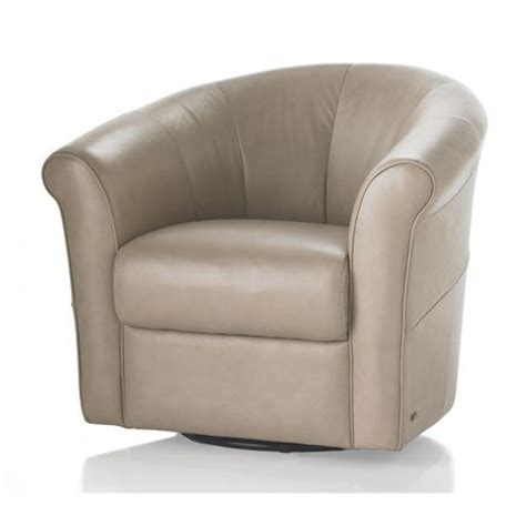 Natuzzi Leather Barrel Swivel Chair by Natuzzi Editions Quattro Swivel Chair