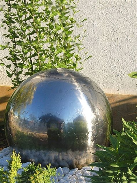 solar powered 30cm diameter sphere water feature water
