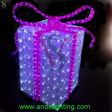 acrylic lighted outdoor christmas decorations gift boxes