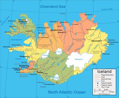 iceland map  satellite image