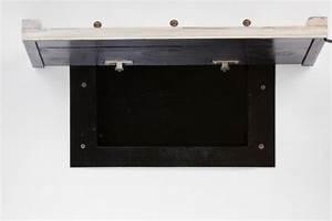Firearm Concealment Compartment Under Coat Rack StashVault