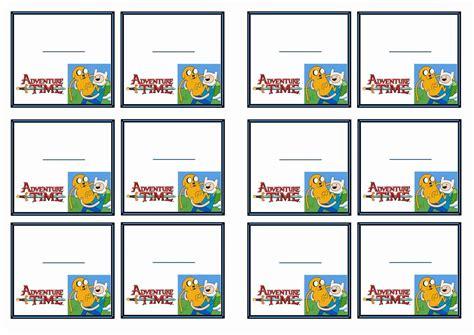 Free Printable Adventure Time Themed Name Tags