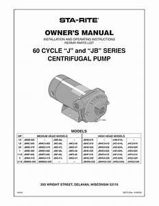 Owner U2019s Manual 60 Cycle  U201cj U201d And  U201cjb U201d Series Centrifugal