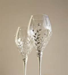 wedding wine glasses crafted wine glasses style