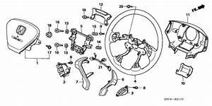 2003 Honda Pilot 5 Door Exl Ka 5at Steering Wheel  Srs