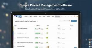 Online Project Management Software Proprofs