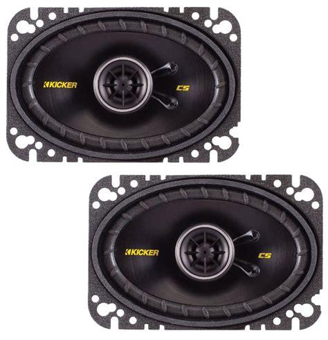 kicker door speakers kicker car stereo cs464 4x6 quot coaxial door dash speakers