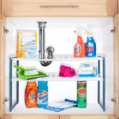 stalwart adjustable  sink shelf organizer unit