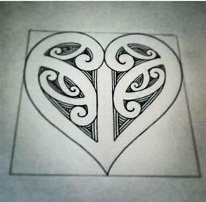 Koru heart | Maori patterns