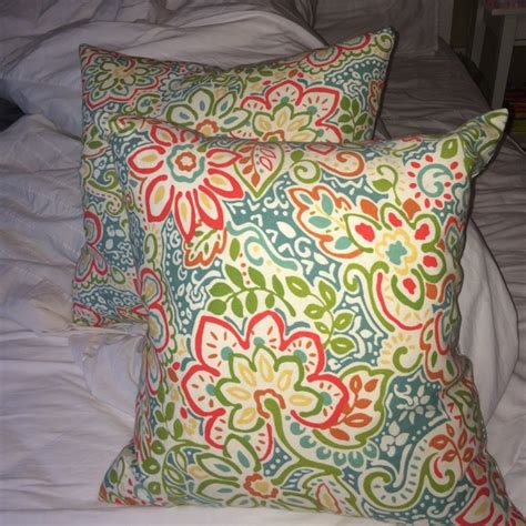 t j maxx accents floral throw pillows poshmark